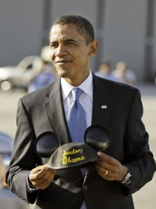 Obama Rejects Wearing Mickey Ears