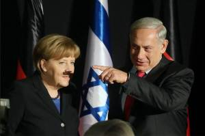 angela merkel and benjamin netanyahu